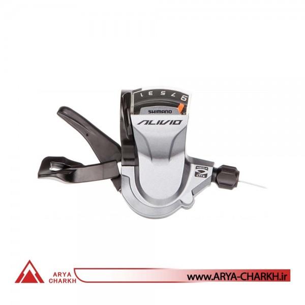 دسته دنده کتی راست شیمانو مدل Shimano SL-M4000, ALIVIO, RIGHT,9-SP