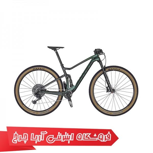 دوچرخه دوکمک کوهستان اسکات سایز 29 مدل SCOTT SPARK RC 900 TEAM GREEN BIKE