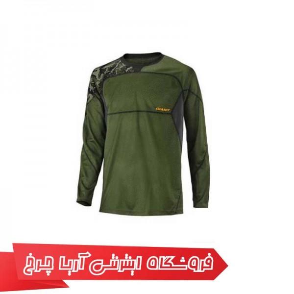 لباس آستین بلند سبز جاینت مدل Giant Realm L/S Jersey green