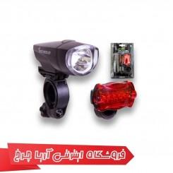 ست چراغ جلو و عقب دوچرخه اوکی (OK) مدل 1000631