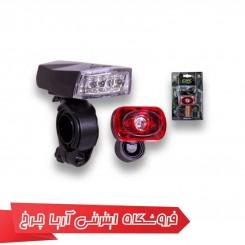 ست چراغ جلو و عقب دوچرخه اوکی (OK) مدل 1000629